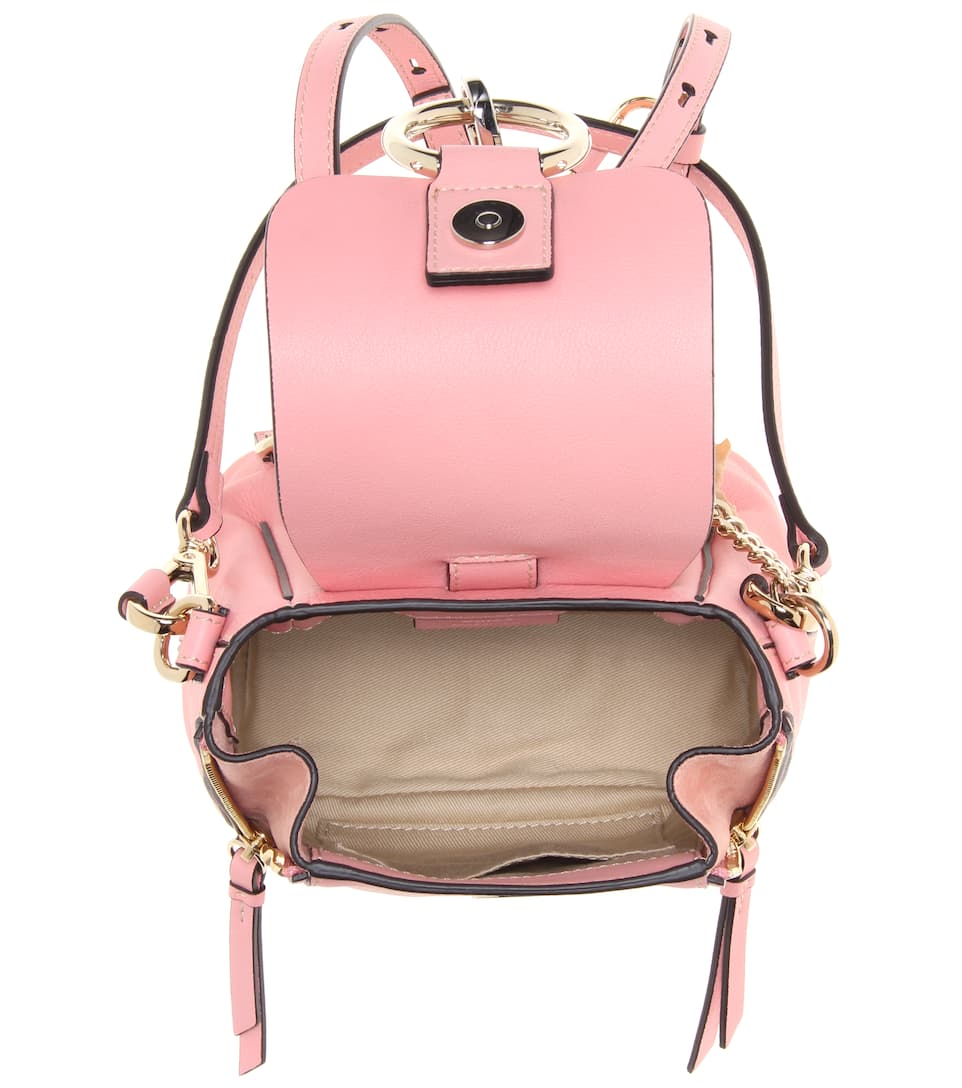866b0624442d Mini Leather Backpack Pink- Fenix Toulouse Handball