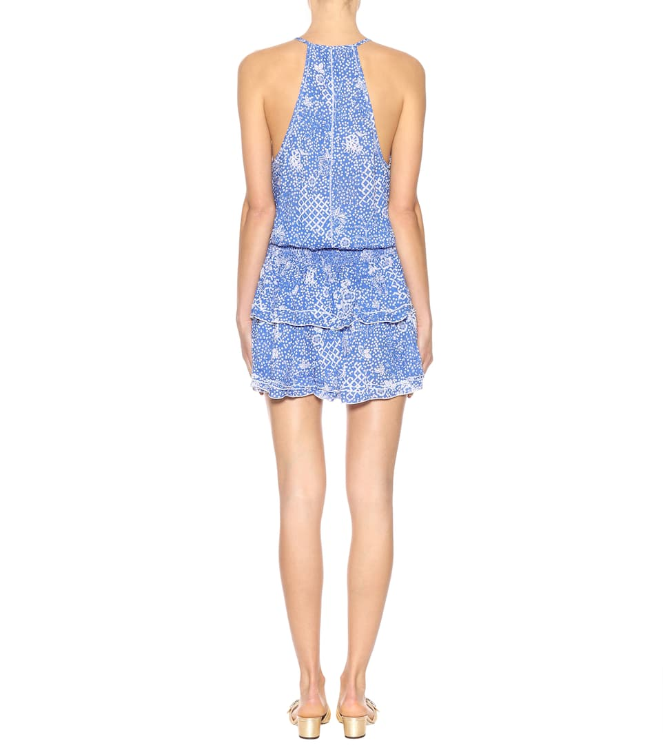 Poupette St Barth Printed Mini Dress Elodie