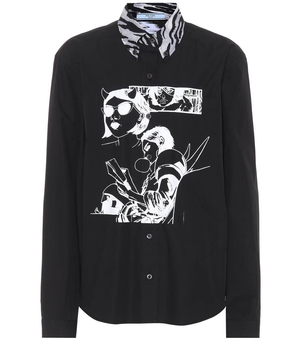 Prada Bedruckte Bluse aus Baumwolle