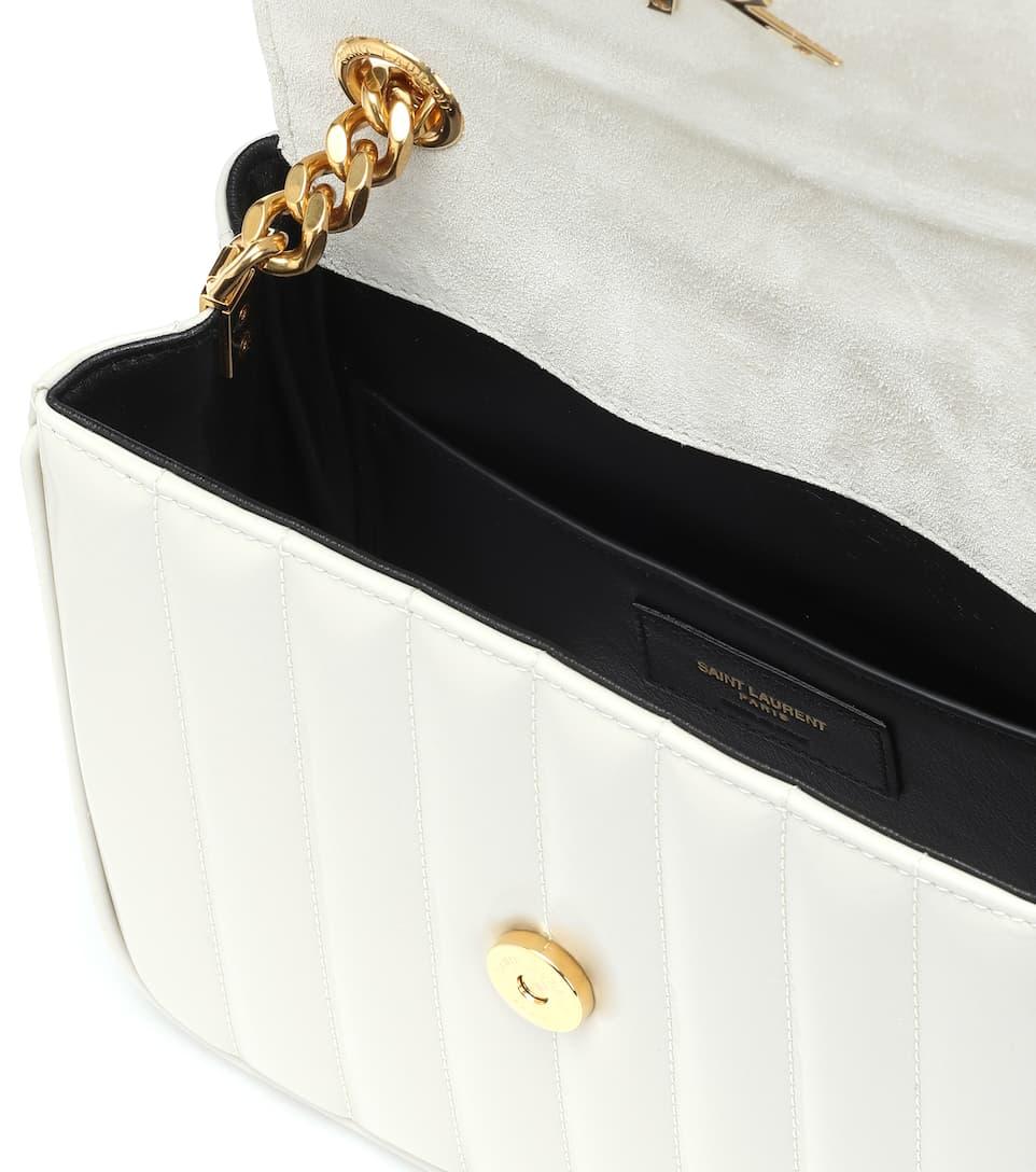 c3e9f3132113b Saint Laurent - حقيبة للكتف من الجلد المبطن Vicky Medium