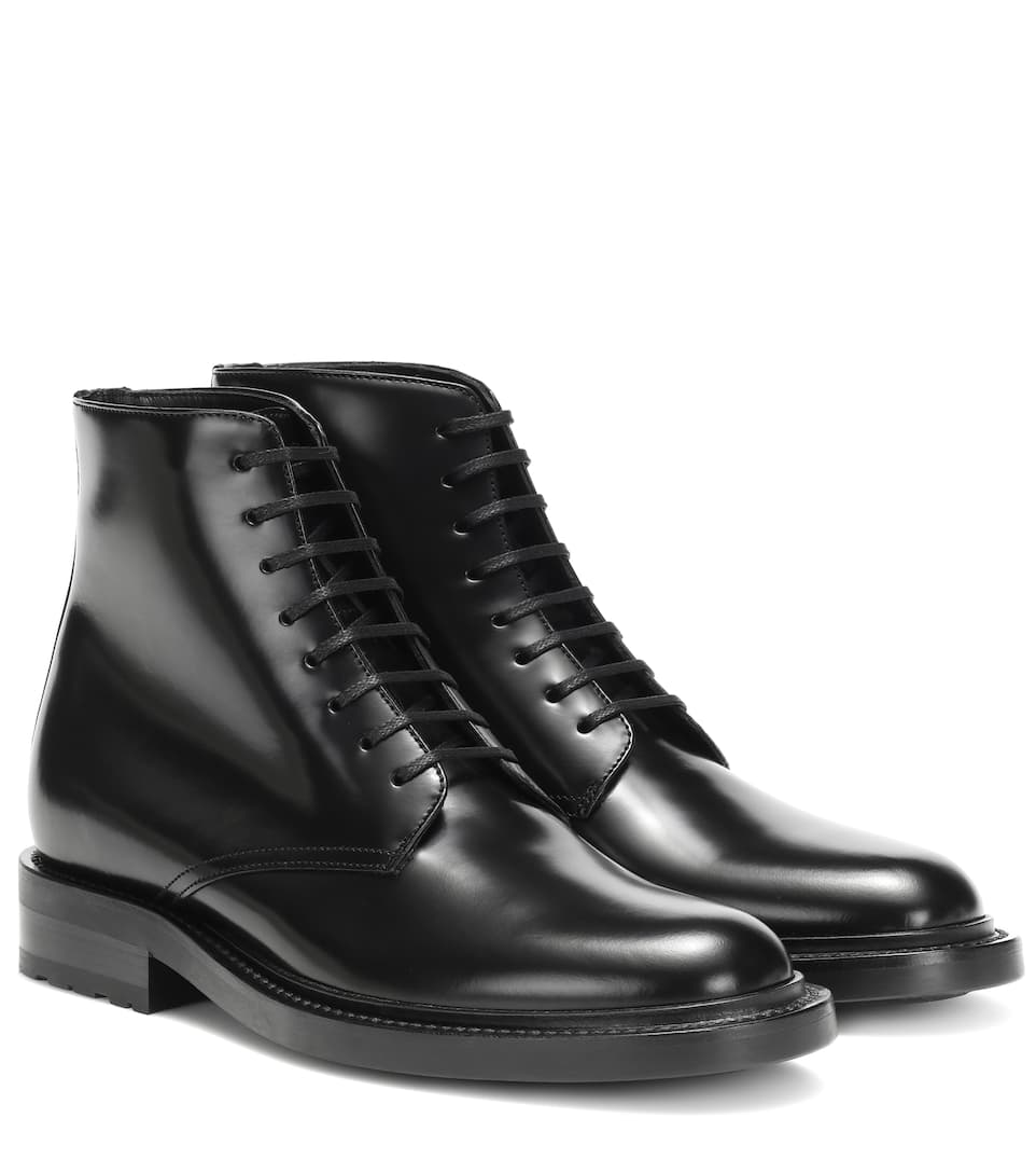 Army 20 Leather Ankle Boots by Saint Laurent