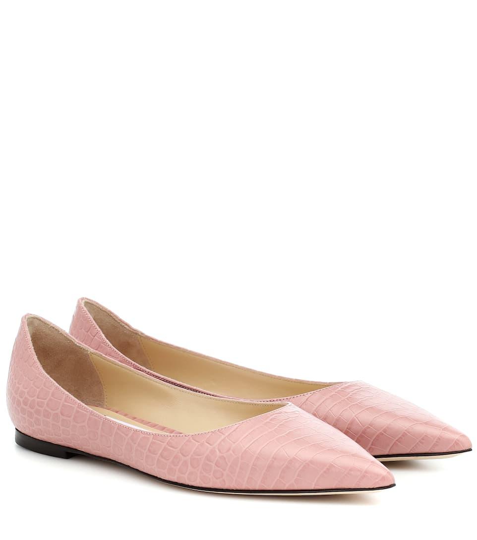 Jimmy Choo - Love Leather Ballet Flats