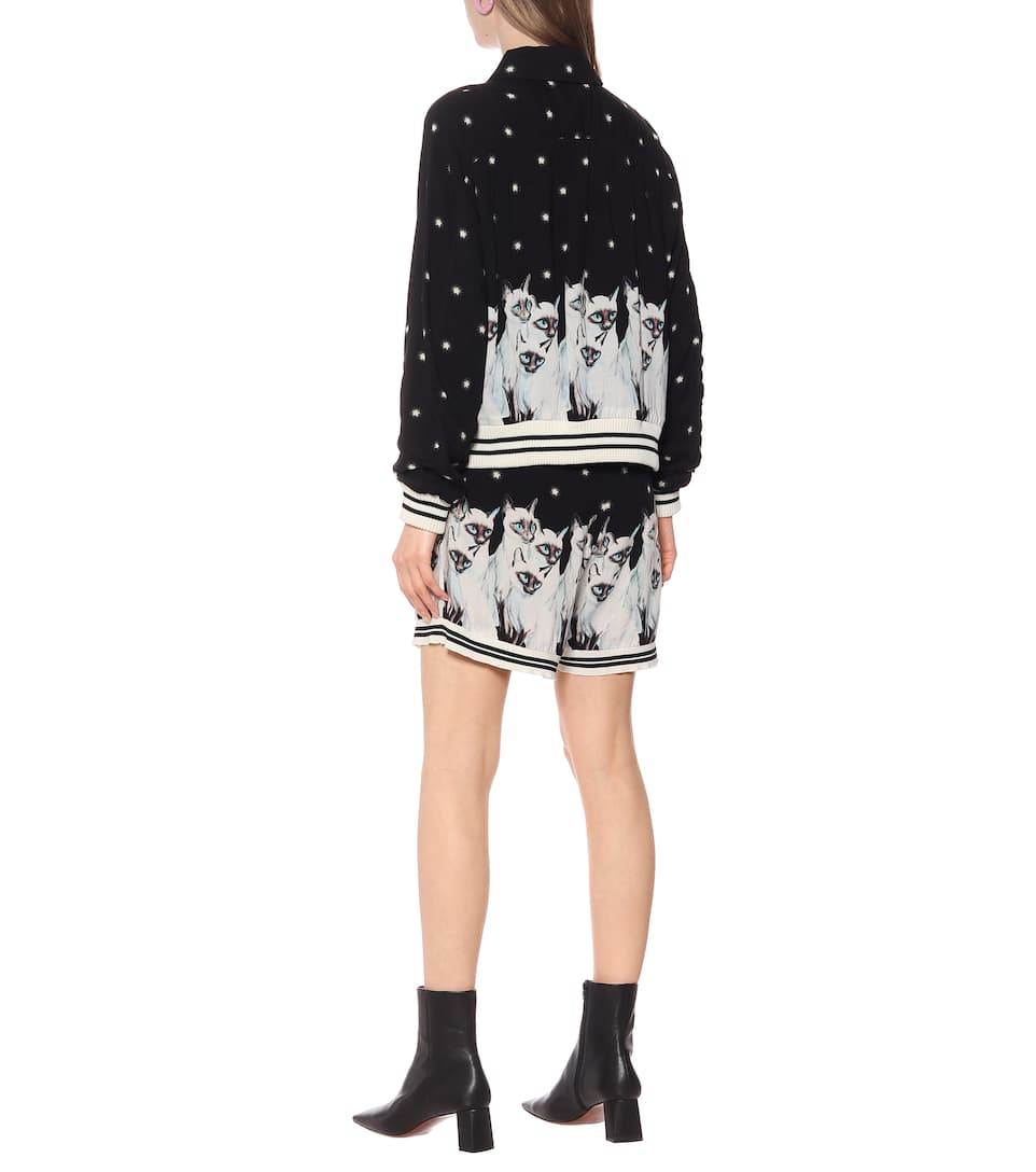 Undercover - Printed rayon jacket