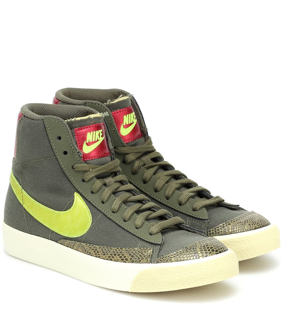 Blazer Mid '77 leather sneakers