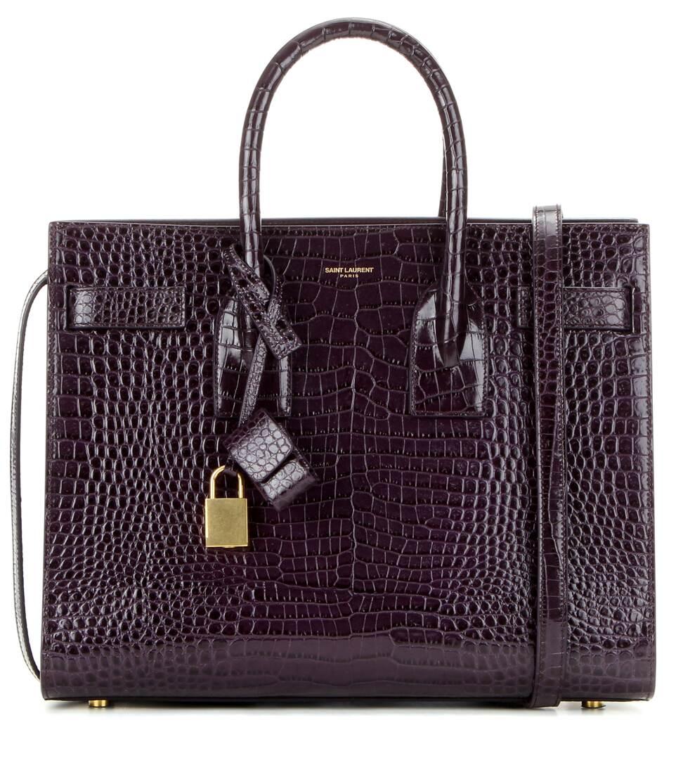 Saint Laurent Handtasche Sac De Jour Small aus geprägtem Leder