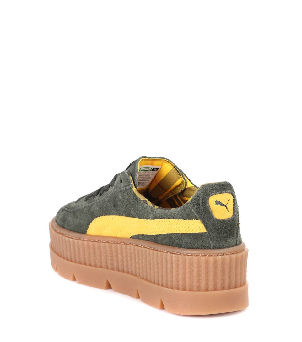 Sneakers Cleated Creeper aus Veloursleder