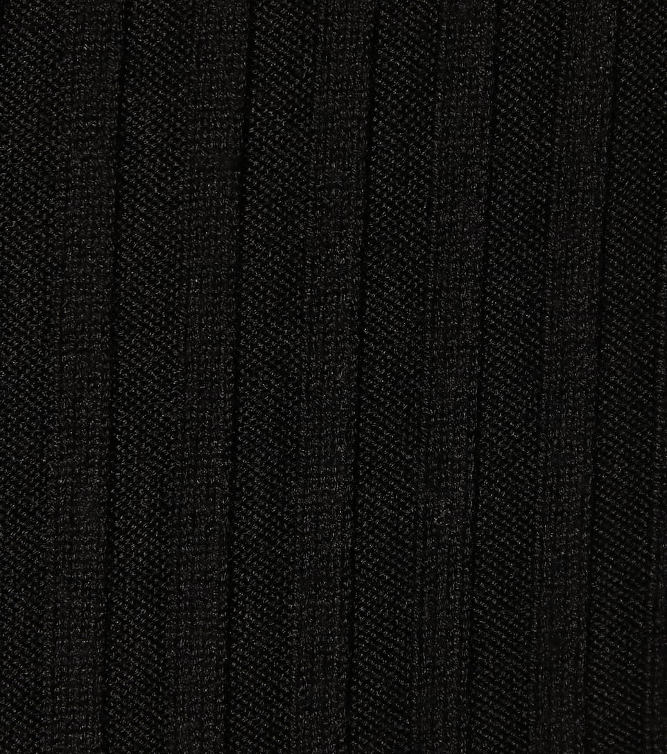 Helmut Lang Rippstrickkleid aus Strech-Seide