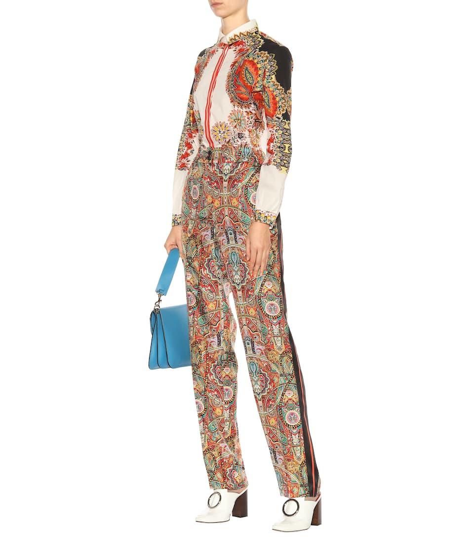 Etro Bedruckte Hose aus Seide