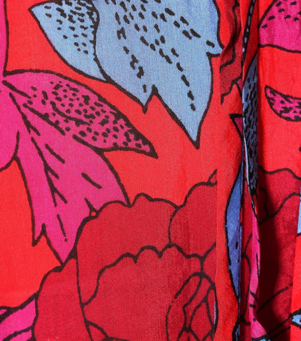 Diane von Furstenberg Midikleid aus Baumwolle und Seide