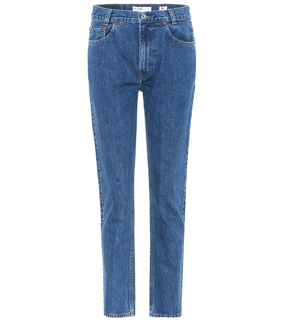 Re/Done High-Rise Jeans Academy Fit