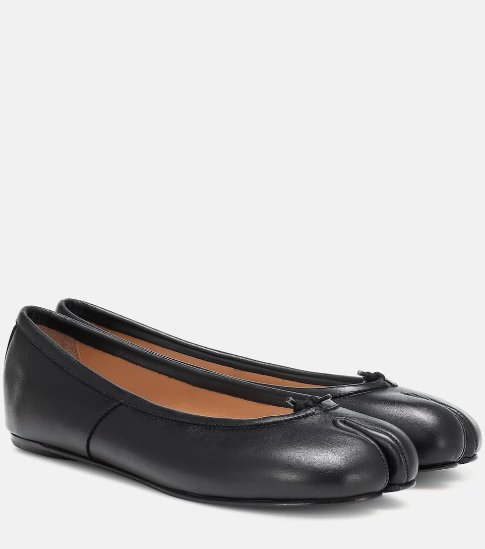 Tabi Leather Ballet Flats - Maison