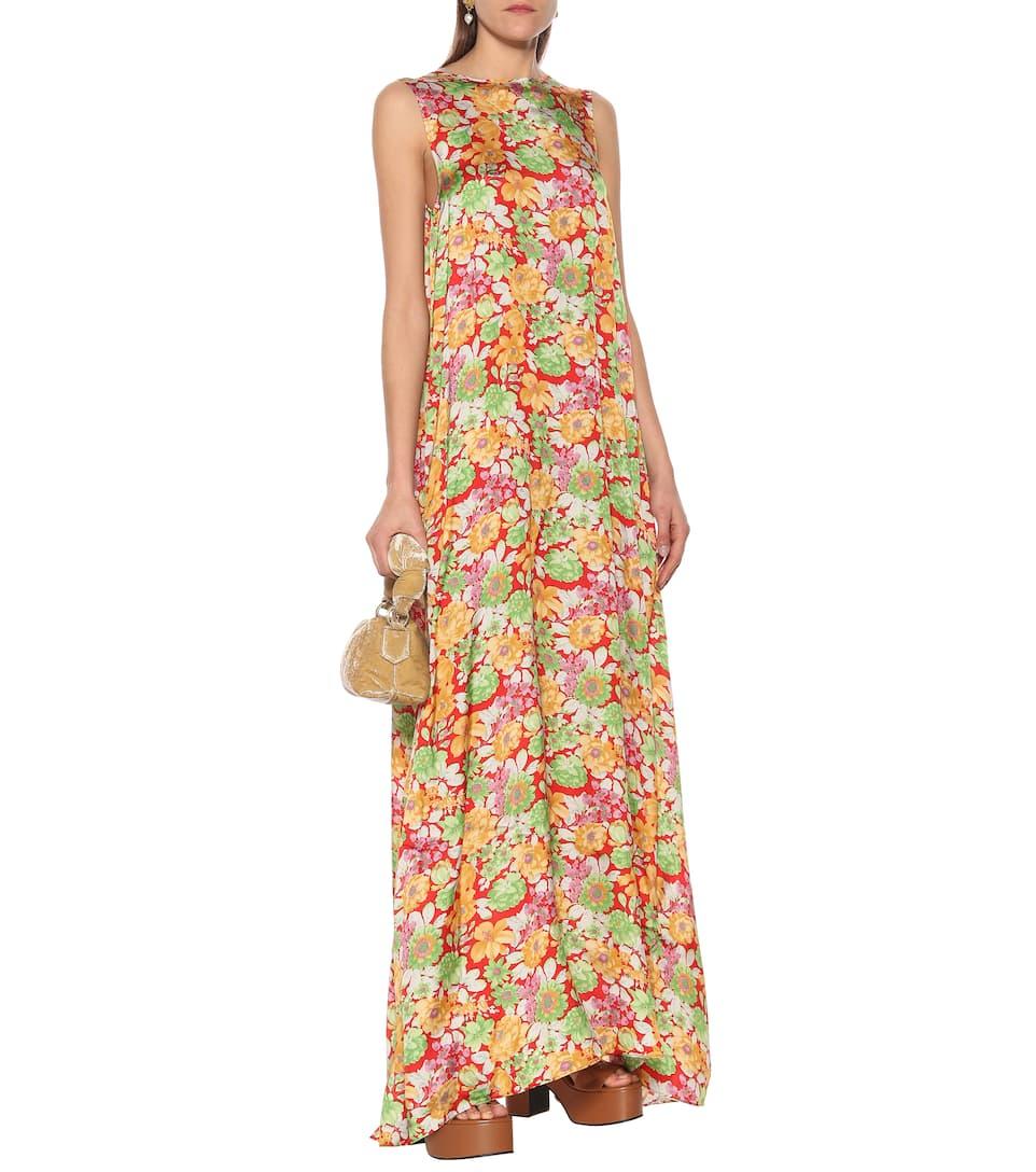 Plan C - Sleeveless floral maxi dress