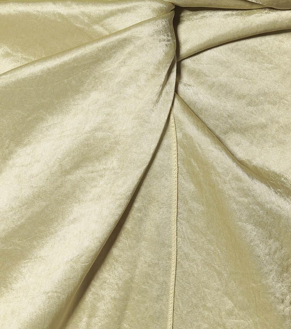 Nanushka - High-rise hammered-satin skirt