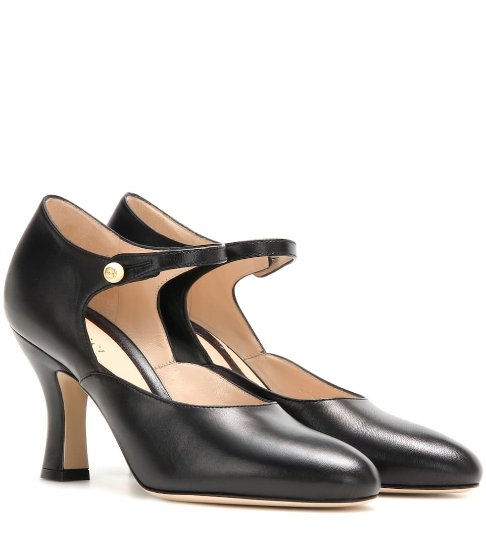Gucci Mary-Jane leather pumps