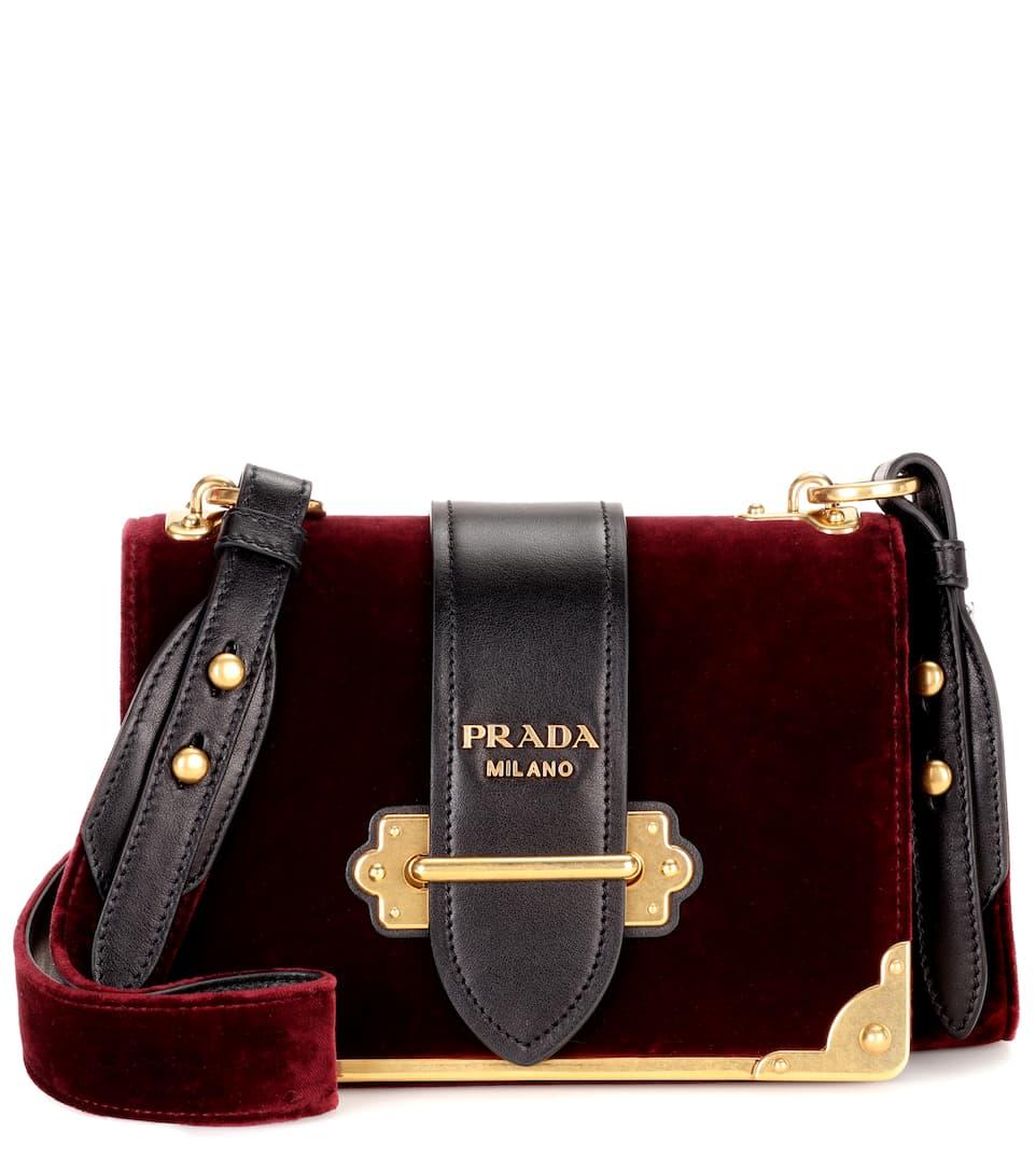 Prada Cahier Bag Velvet
