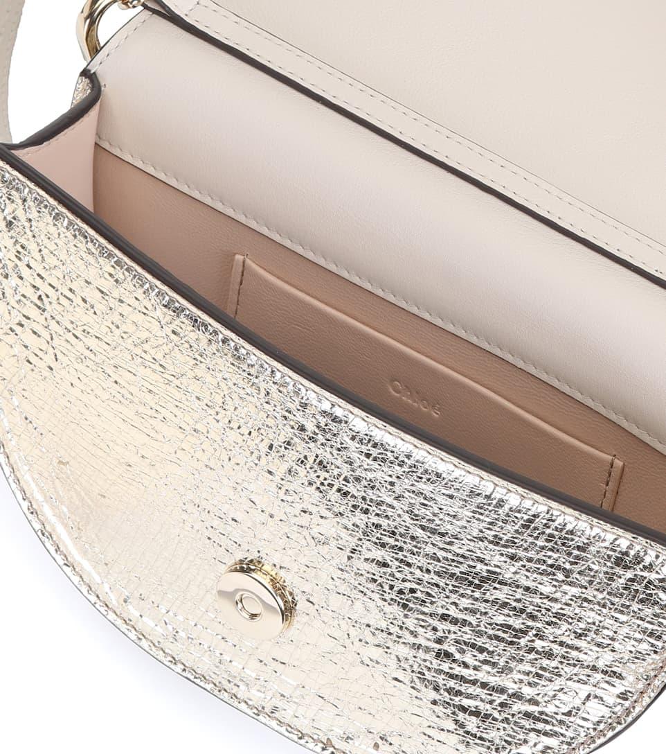 Chloé Tasche Nile Minaudière aus Metallic-Leder