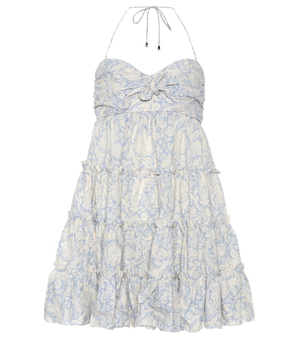 Zimmermann - Robe imprimée en lin et coton