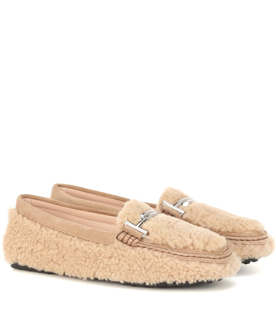 71c845dc139 Double T Shearling Loafers - Tod s