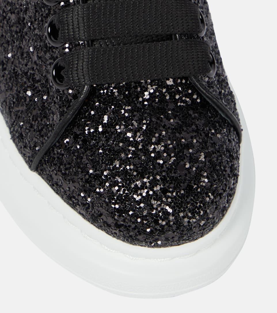 black sparkly plimsolls