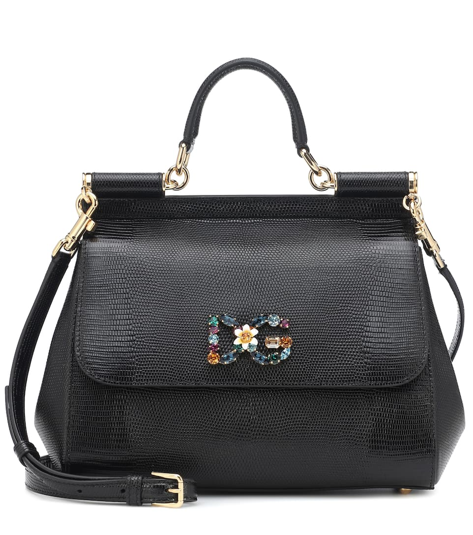 Sicily Medium Leather Shoulder Bag - Dolce   Gabbana  ba5990c8bdbfd