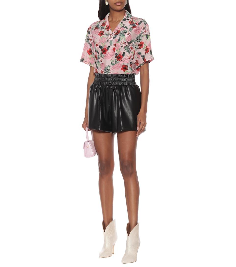 Les Rêveries - Faux-leather shorts
