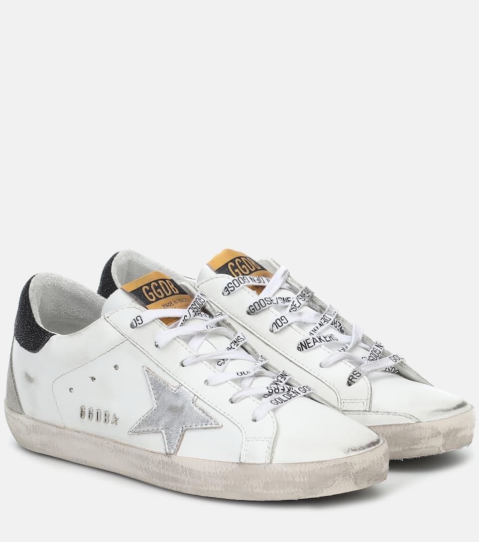 Superstar Leather Sneakers   Golden