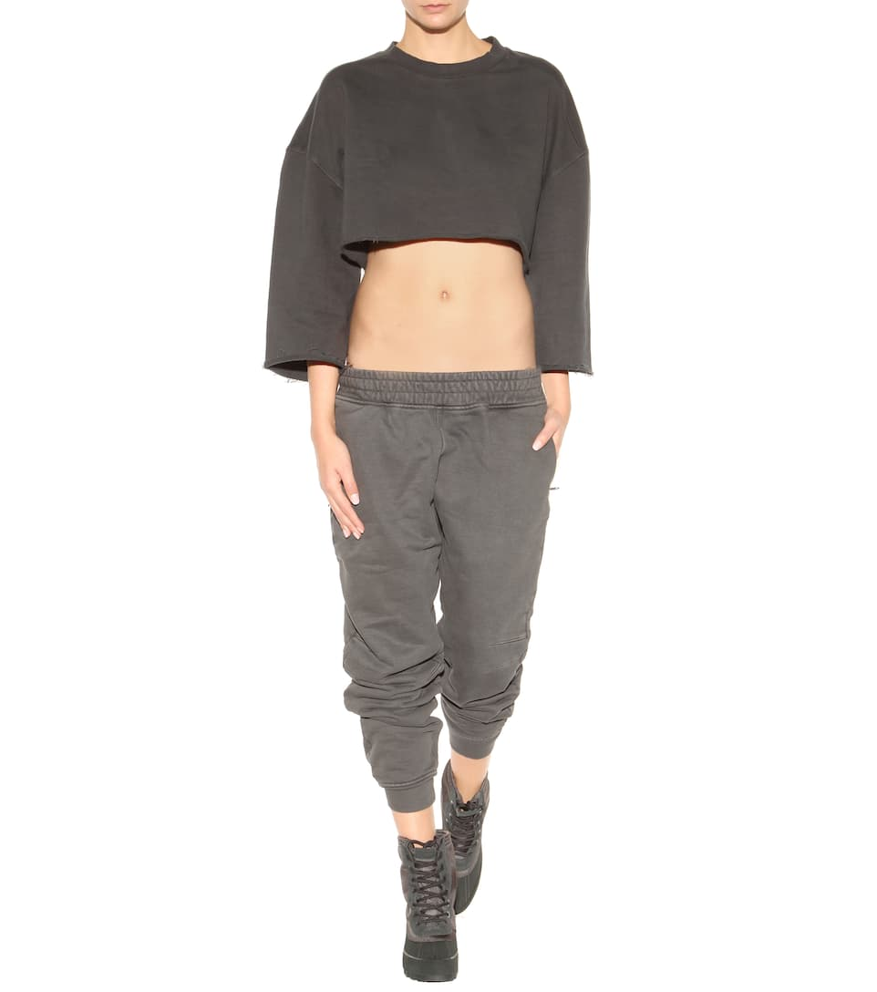 Yeezy - Cropped cotton sweater (SEASON 1) | mytheresa.com