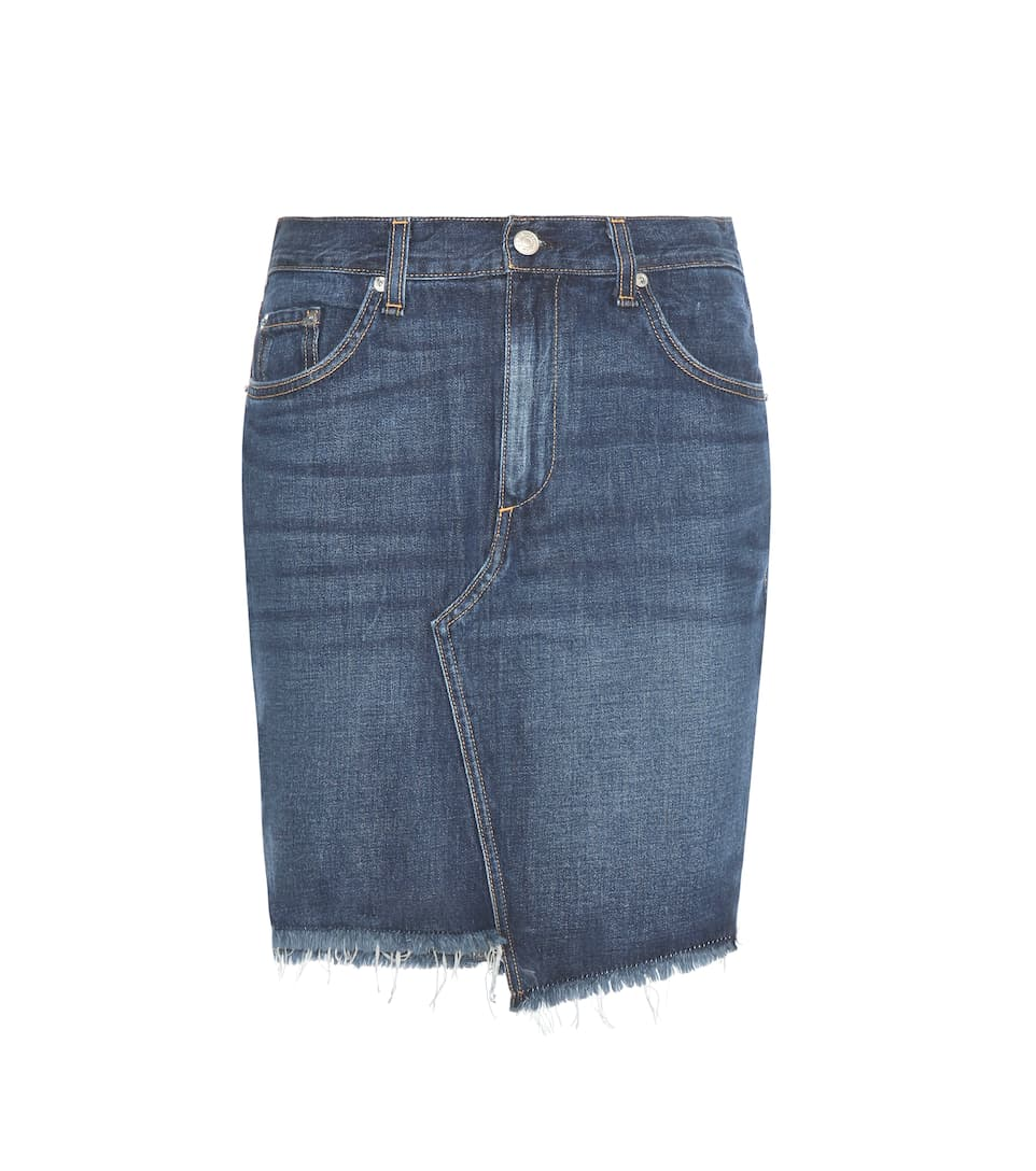 rag bone asymmetric denim skirt