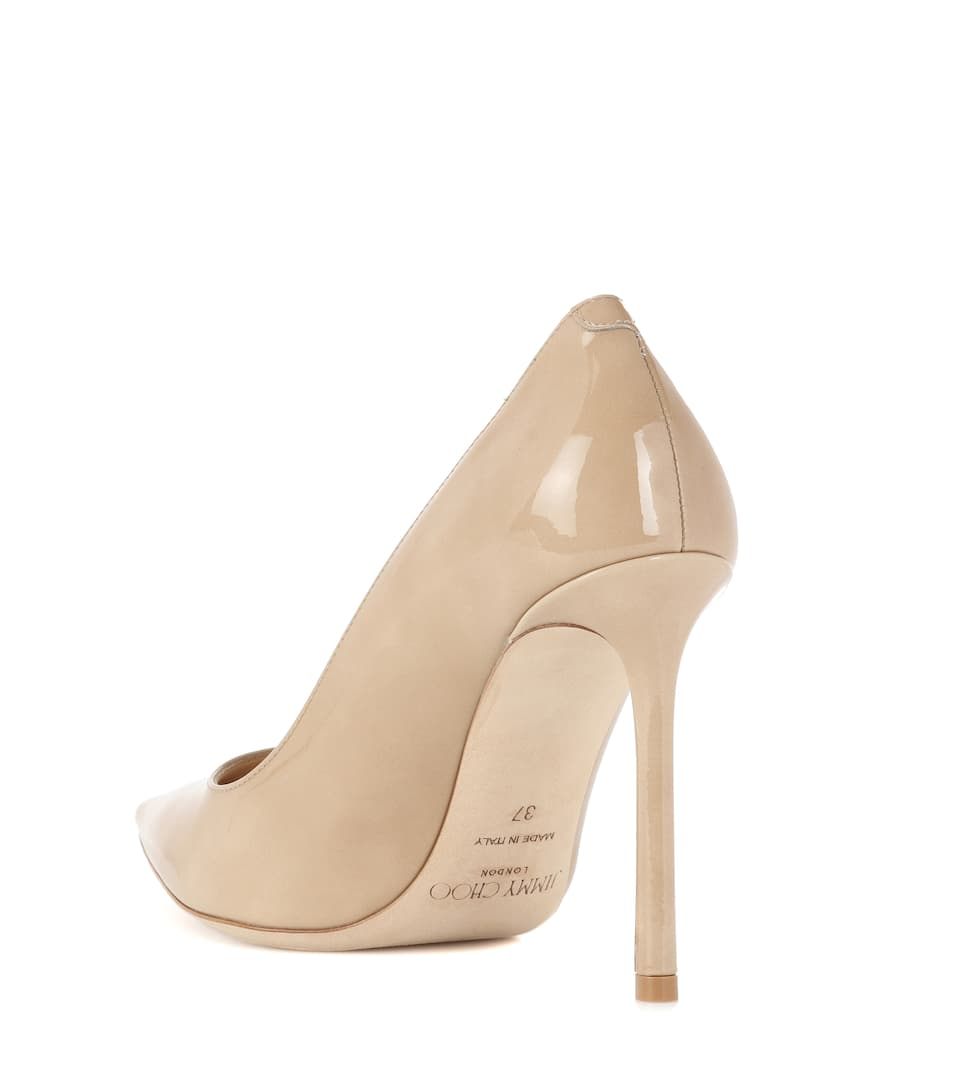 Jimmy Choo Romy 100 patent leather pumps Nude Geniue Stockist For Sale Low Shipping Fee Sale Online Pay With Visa Online Discount Price 2018 Discount JWzCqVoTp