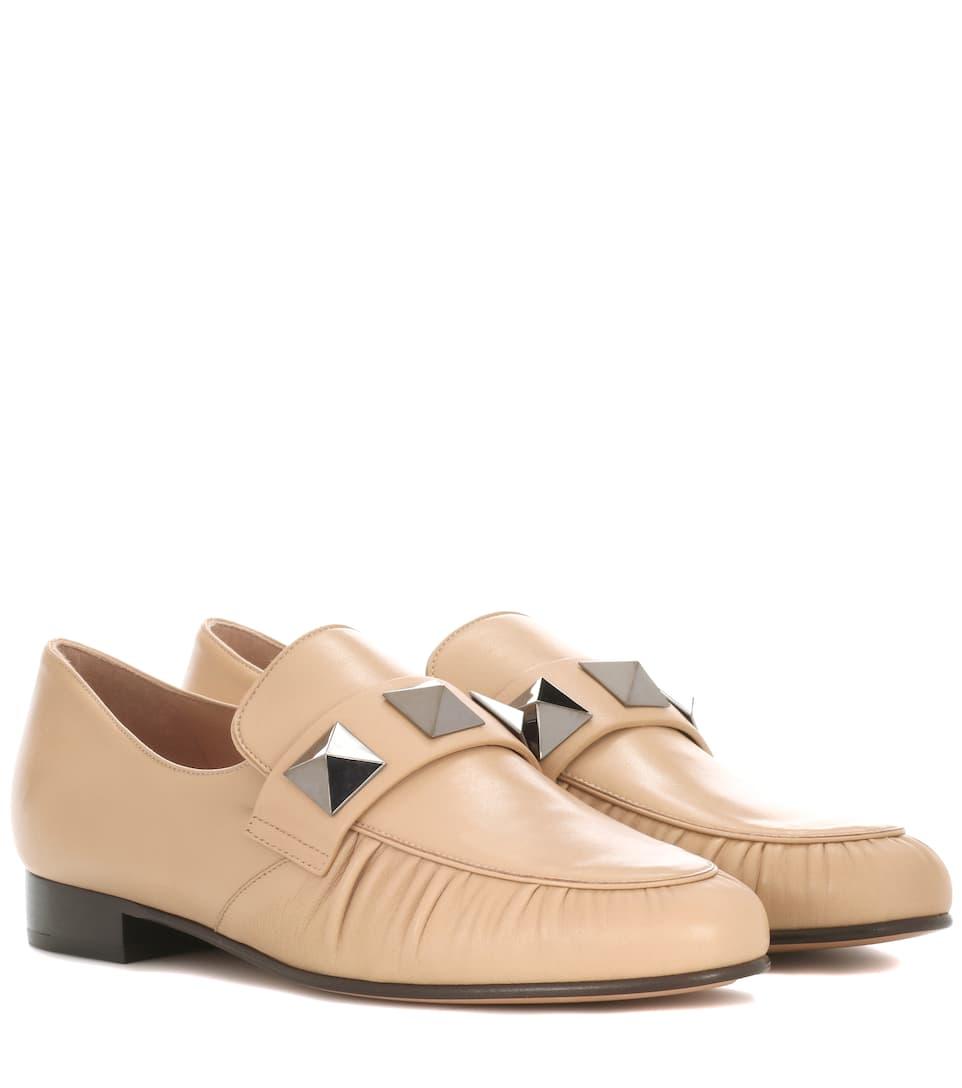 bd3d5631a6a Valentino - Valentino Garavani Rockstud leather loafers