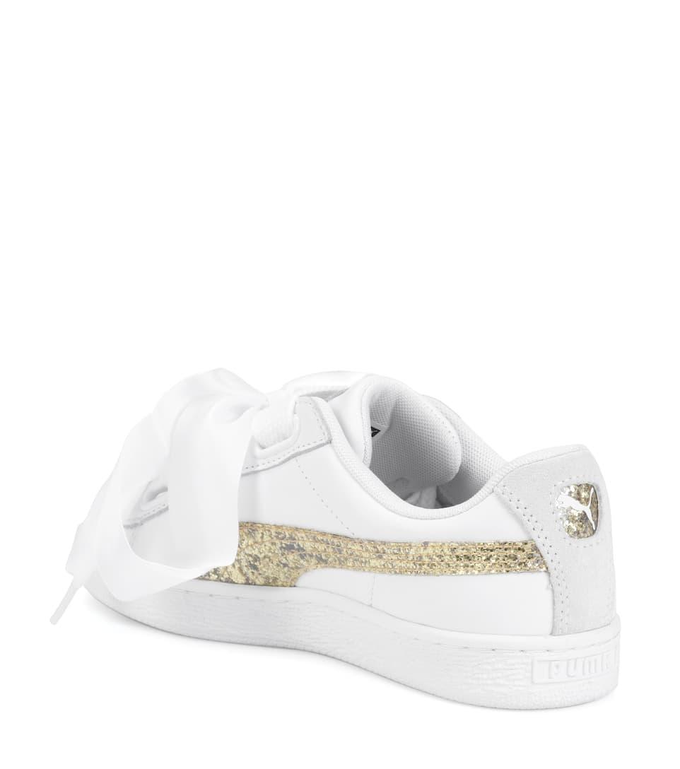 Puma Sneakers Basket Glitter Heart aus Leder