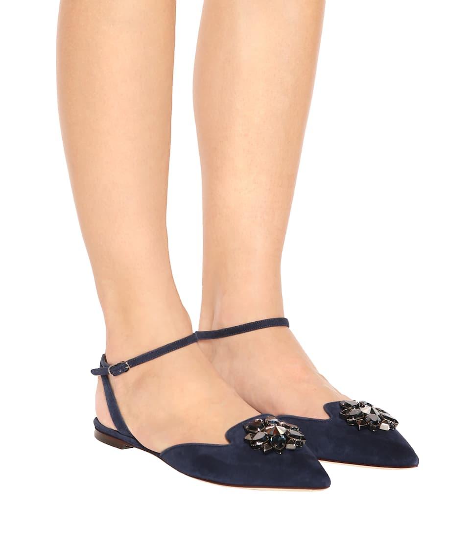 Dolce & Gabbana Ballerinas Bellucci aus Veloursleder
