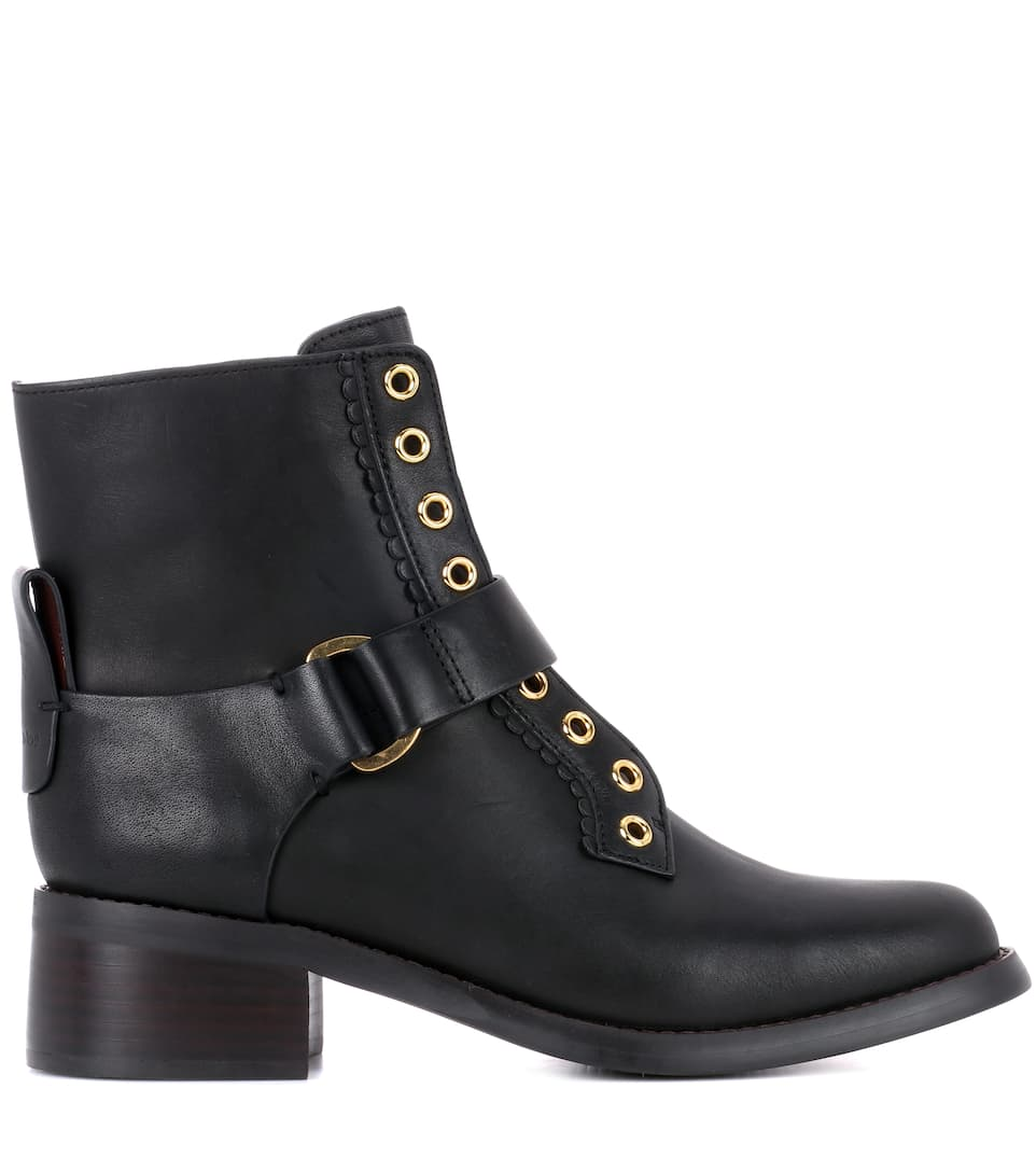 See By Chloé Ankle Boots aus Leder