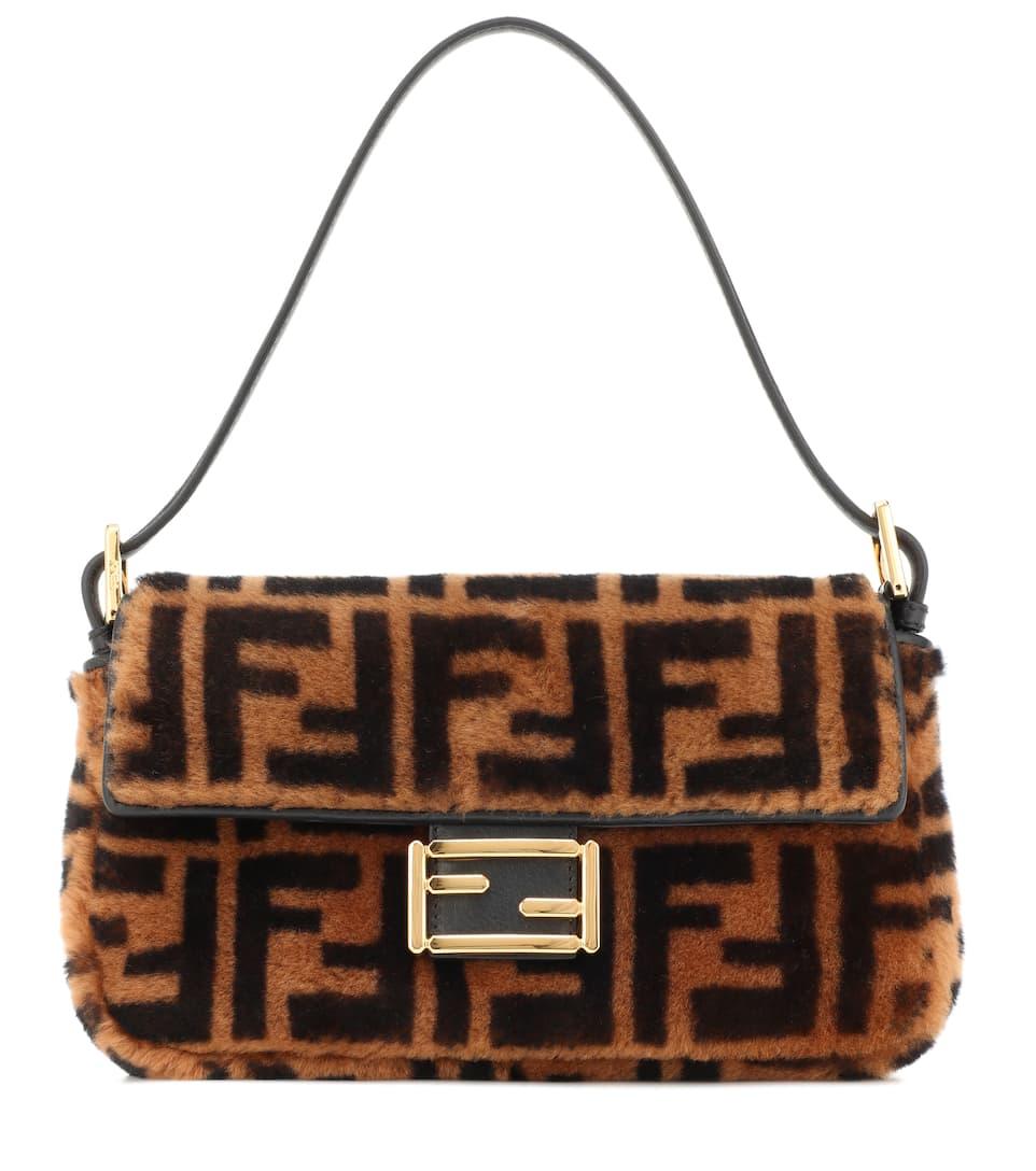 Baguette Fur Shoulder Bag by Fendi