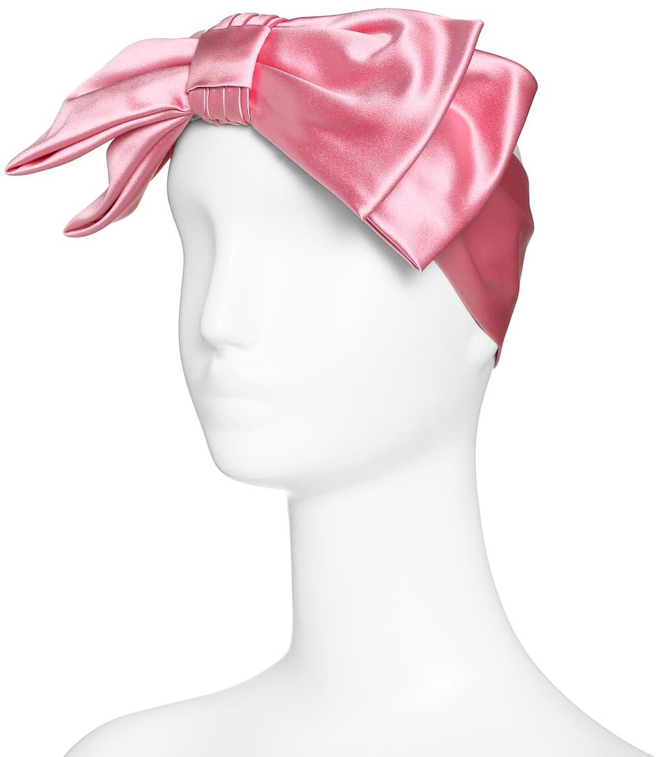gucci headband. gucci oversized-bow silk headband in roseate gucci