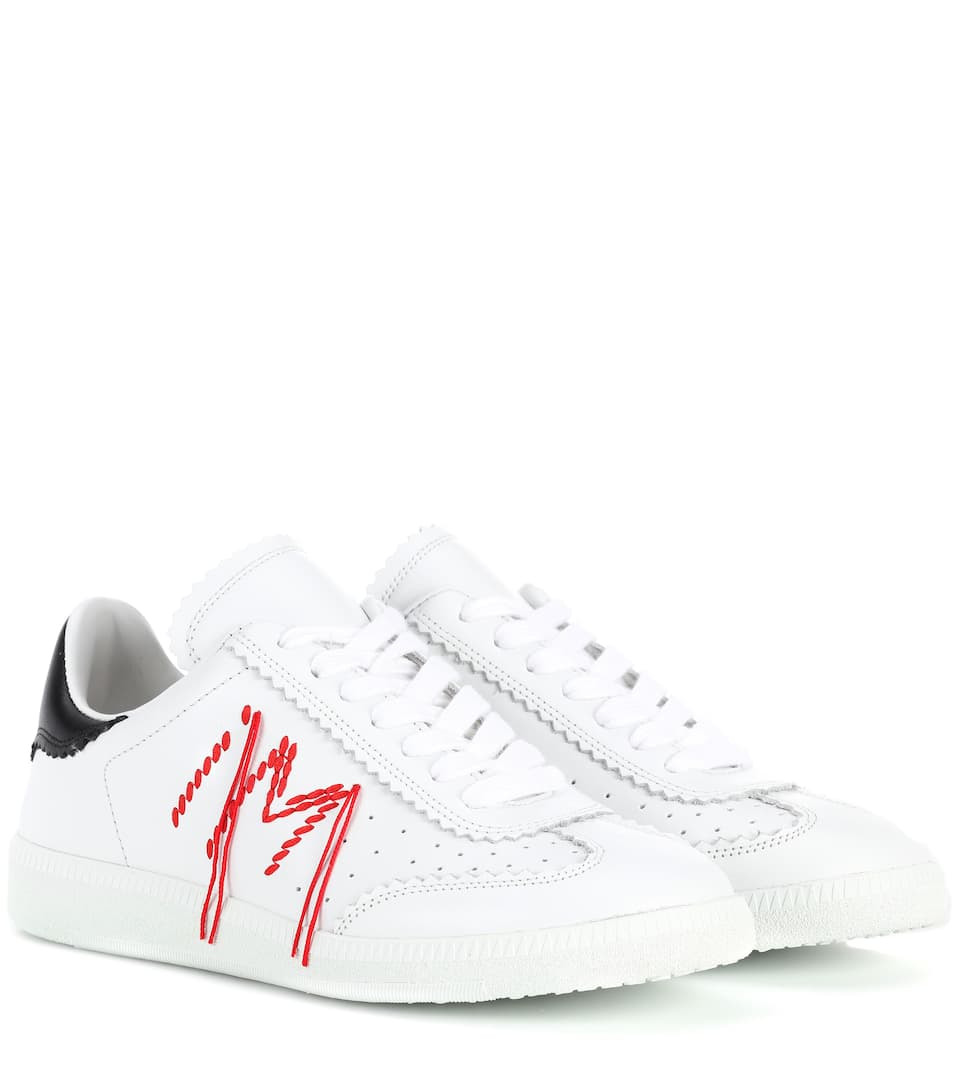 Bryce embellished leather sneakers Isabel Marant hVLxcr