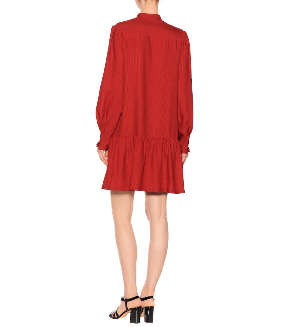 A.P.C. Kleid mit Woll- und Seidenanteil