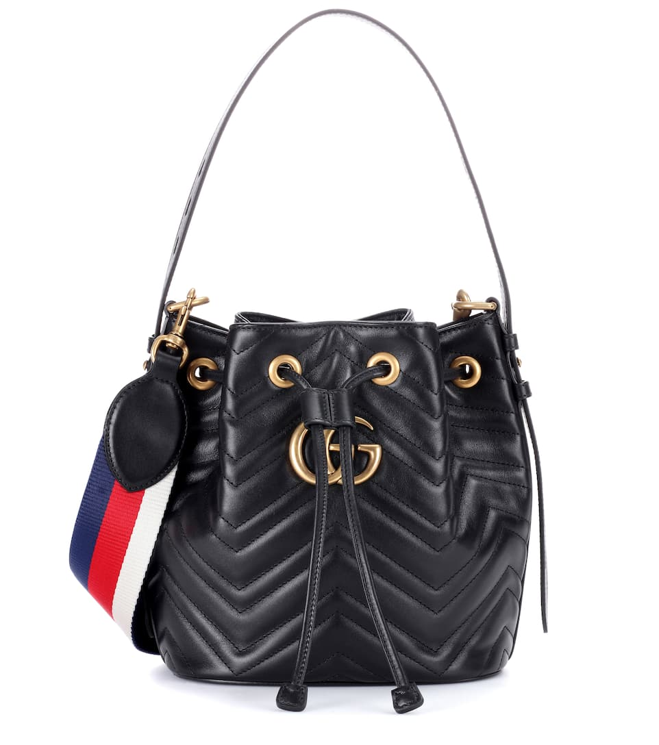 14a4226e64 Gg Marmont Leather Bucket Bag - Gucci