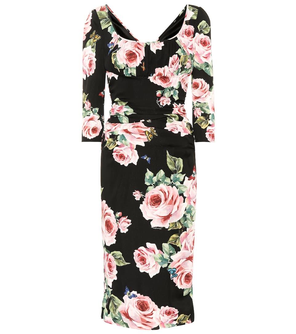 Dolce & Gabbana Bedrucktes Kleid mit Seidenanteil
