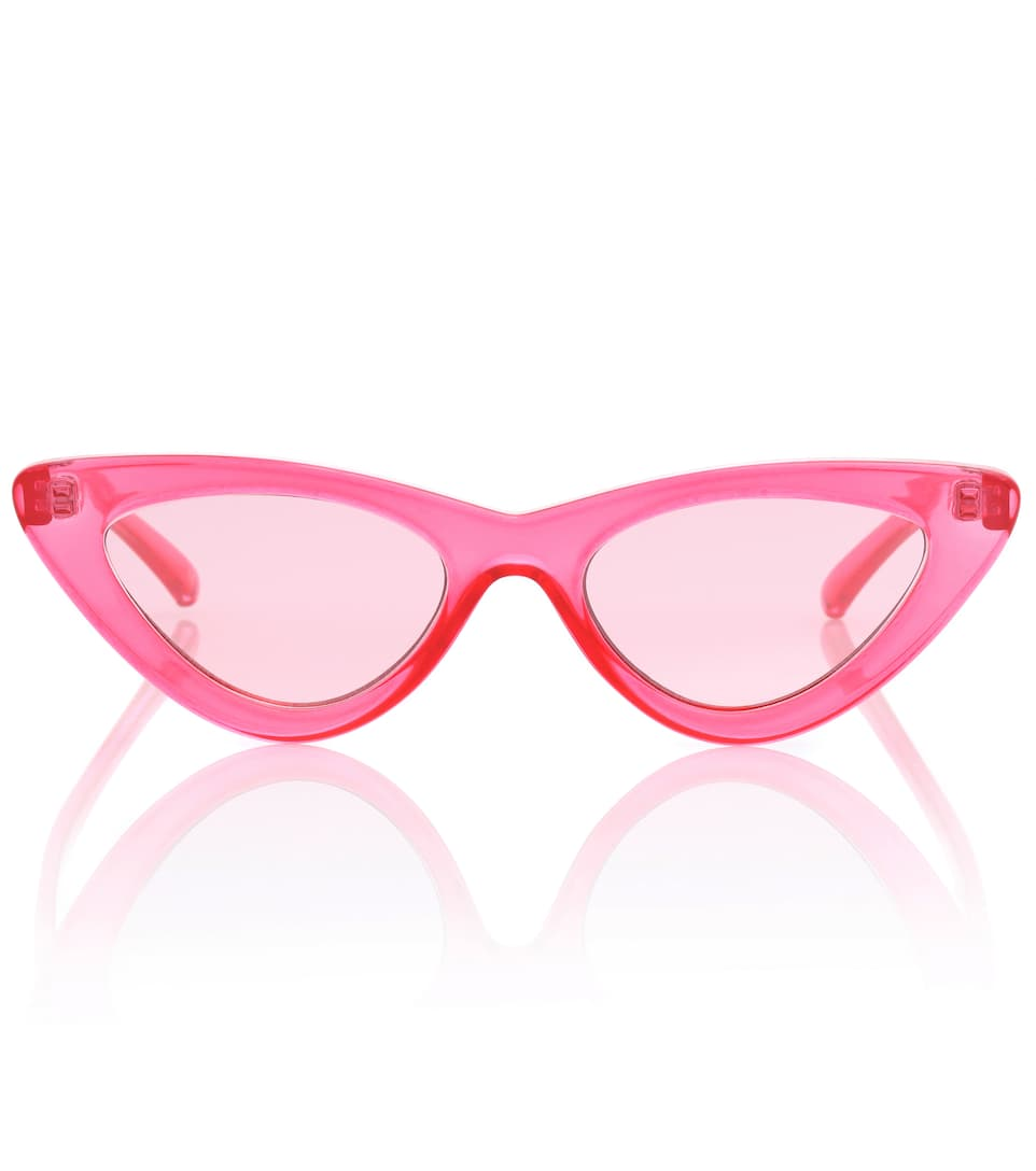 The Last Lolita Sunglasses In Crystal Hot Pink And Pink Flash Mirror Acetate