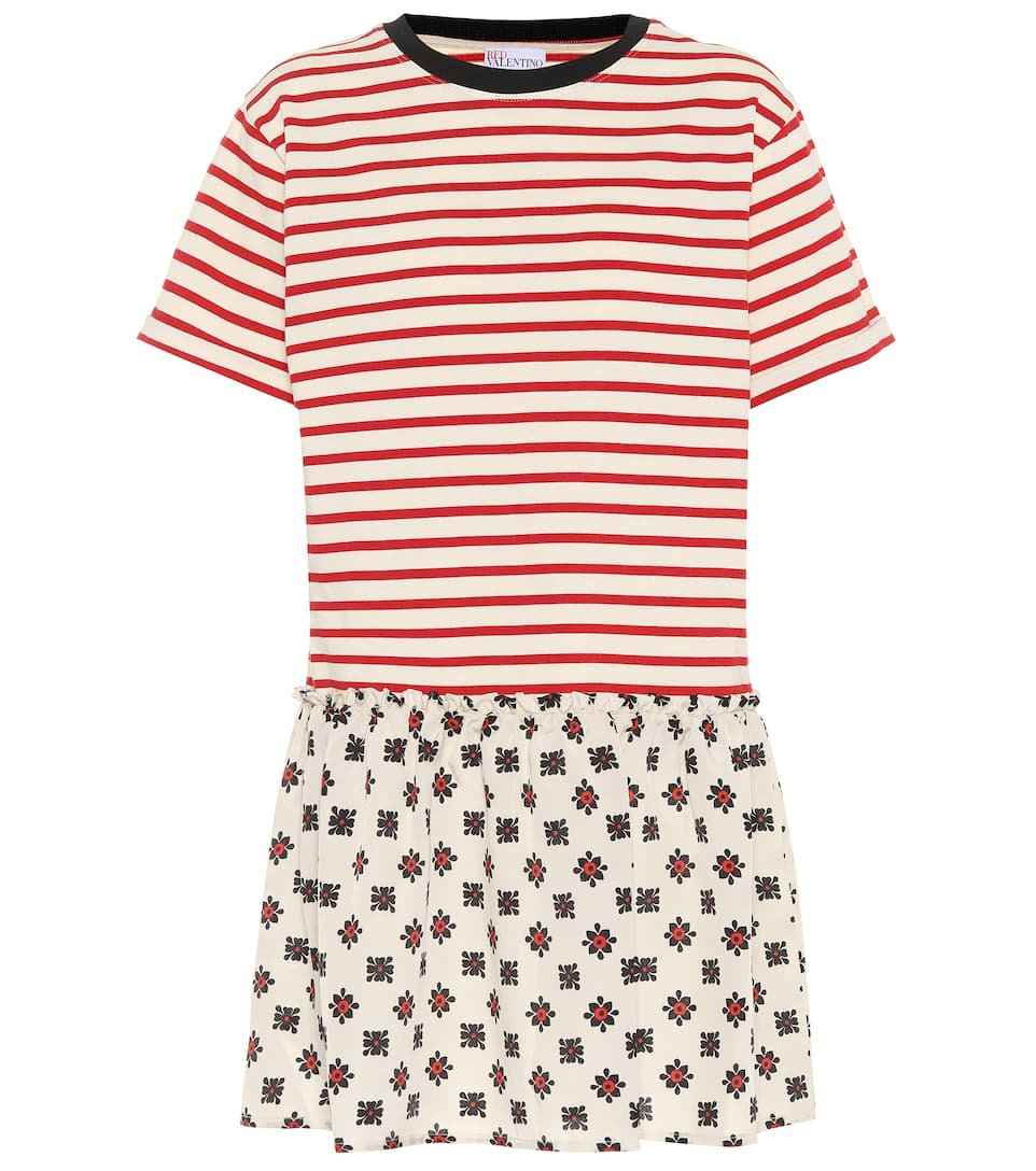 Mixed Print T Shirt Dress by Red Valentino