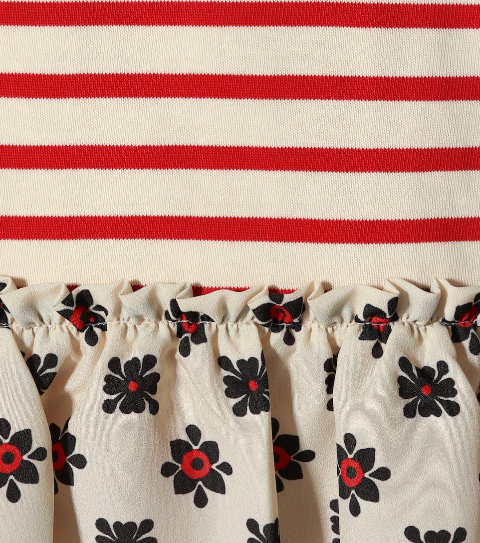 REDValentino Minikleid aus einem Baumwollgemisch