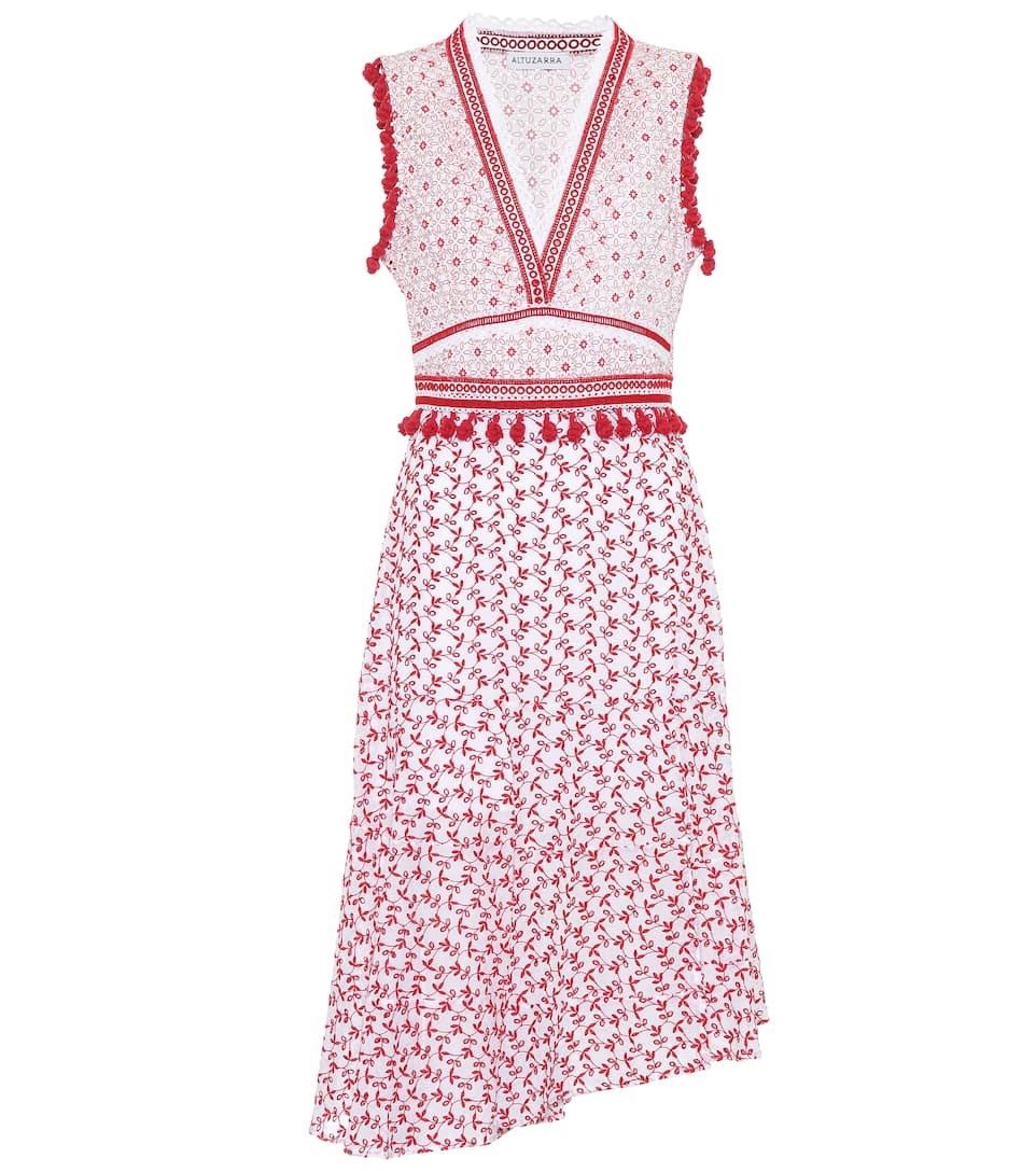 Altuzarra Printed Mini Dress Eiffel Of Cotton