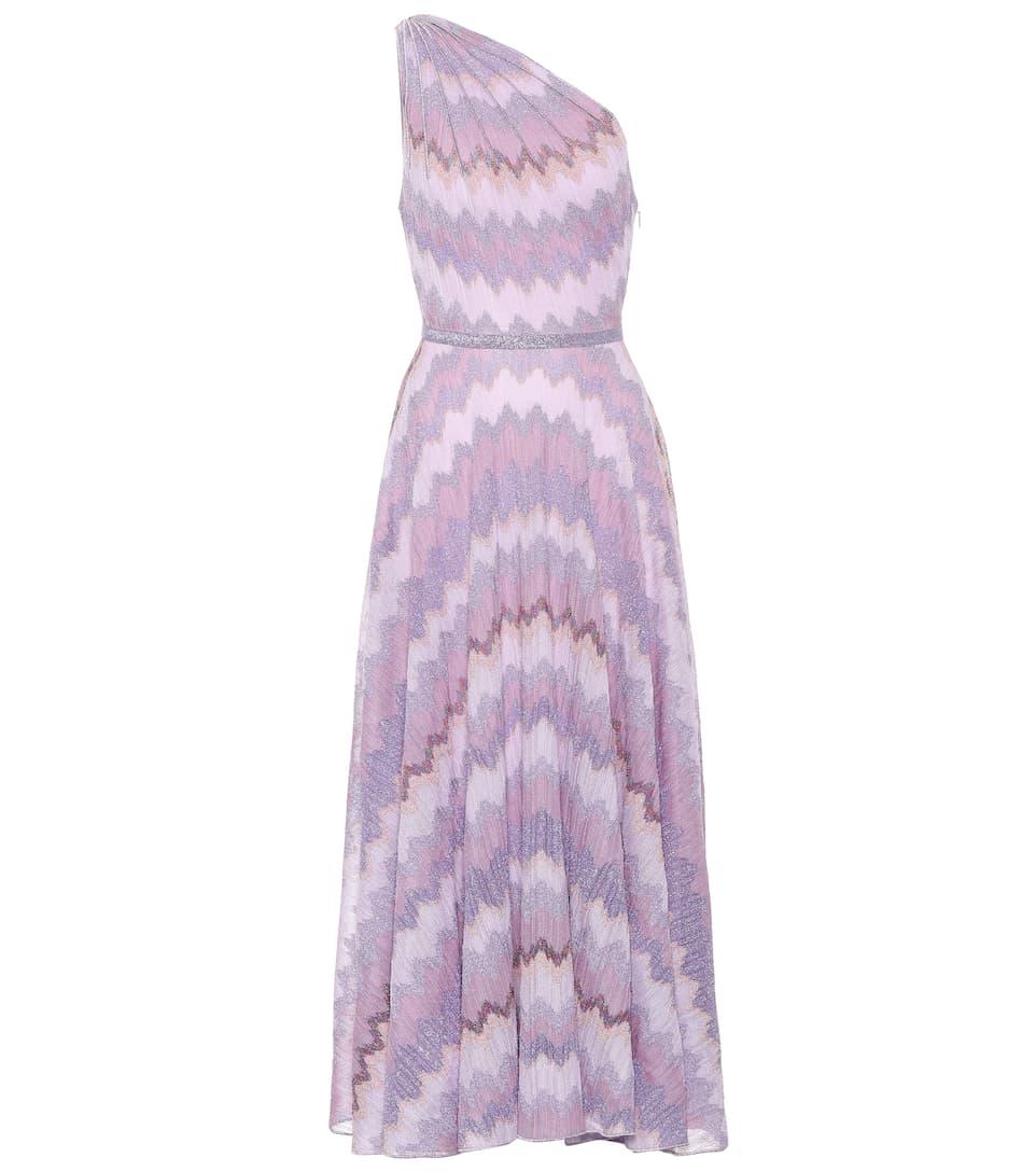 One-Shoulder Zigzag Knit Dress   Missoni - mytheresa