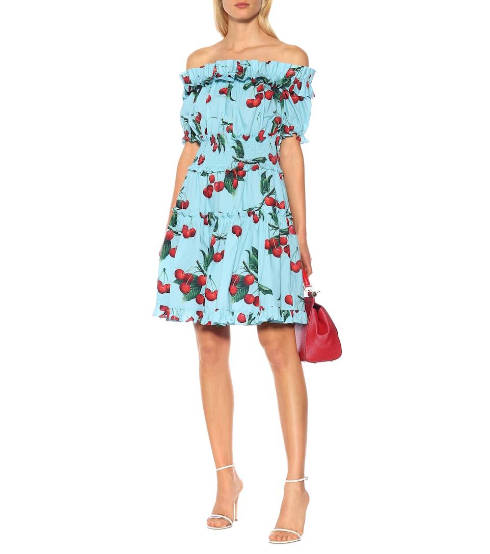Exclusivité En Coton Mytheresa – Imprimée Robe Gabbana Dolceamp; 3LjR54A