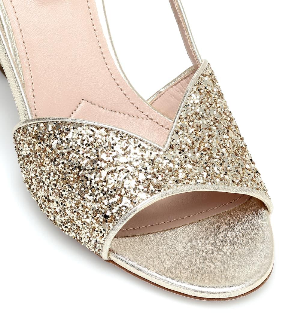 Glitter Slingback Sandals | Miu Miu
