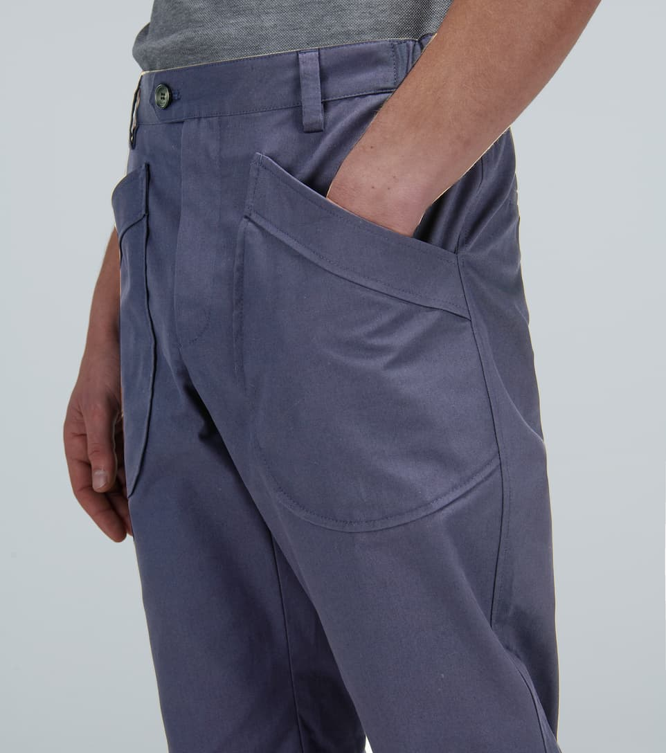 Slim Pants With Buttoned Hem Lanvin