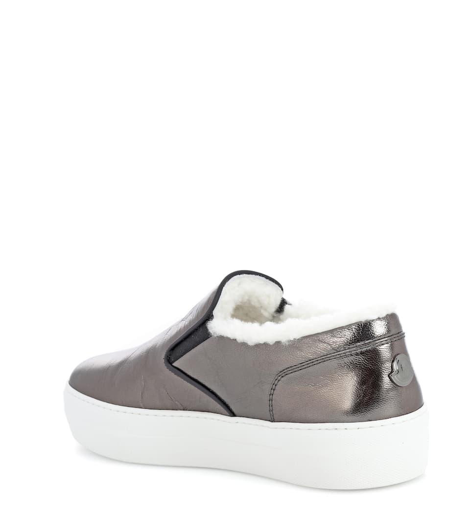 Moncler Sneakers New Rosaline aus Leder