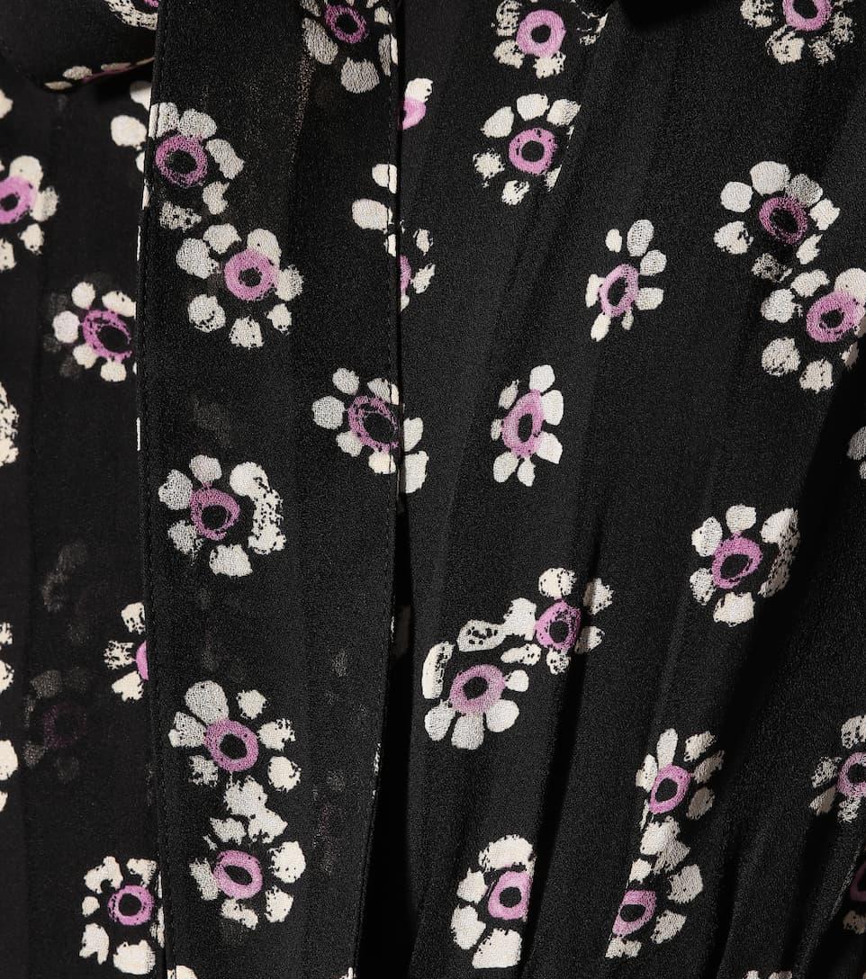 Tory Burch - Robe longue en soie imprimée Diane Vente Pas Cher Le Plus Grand Fournisseur JSDZr