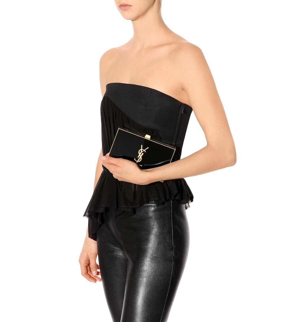 Günstiger Preis Saint Laurent Boxclutch Tuxedo Billig Offiziellen 7MySZPRr